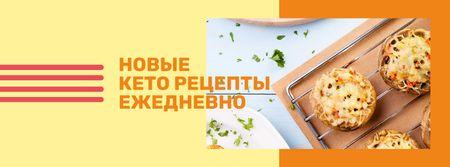 Stuffed Mushroom dish for keto Facebook cover – шаблон для дизайна