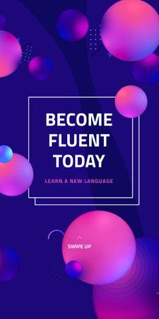 Ontwerpsjabloon van Graphic van Language Course Offer