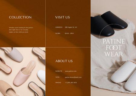 Fashion Ad with Female Shoes Brochure Modelo de Design