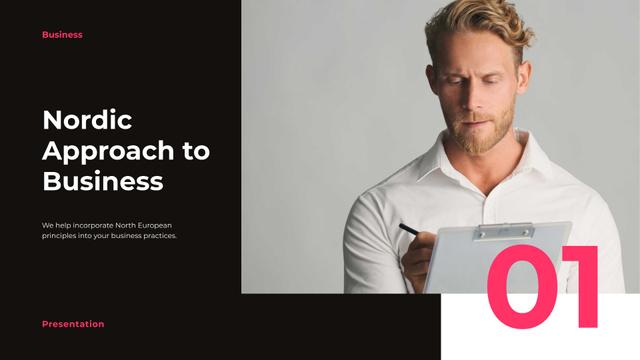 Nordic Business Company promotion Presentation Wide – шаблон для дизайна
