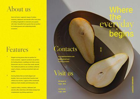 Modèle de visuel Fresh Pears on Plate - Brochure