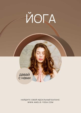 Online Yoga classes promotion Flayer – шаблон для дизайна