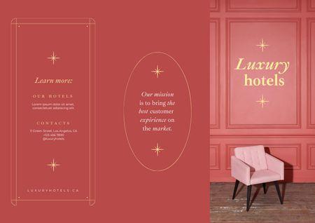 Platilla de diseño Luxury Hotel Ad with Vintage Chair Brochure