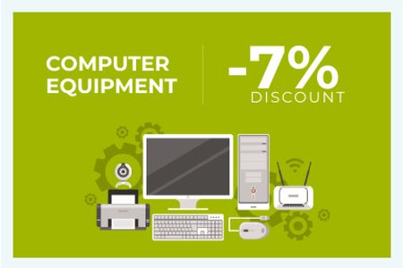 Discount for computer equipment Gift Certificateデザインテンプレート