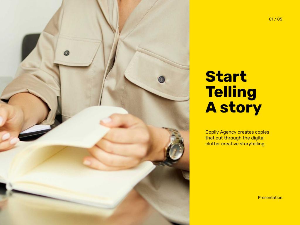 Copywriting Agency Services Offer Presentation – шаблон для дизайну