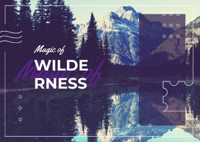 Modèle de visuel Scenic landscape with snowy mountains - Postcard