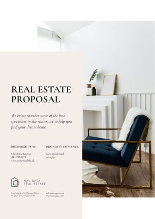 Real Estate agency services Proposal Design Template