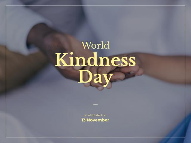 Designvorlage World Kindness Day für Presentation