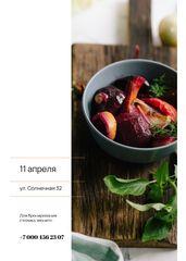 Restaurant Promotion Red Vegetables Dish