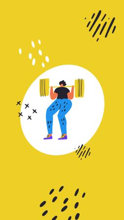 Plantilla de diseño de People doing weight and cardio Exercises Instagram Highlight Cover