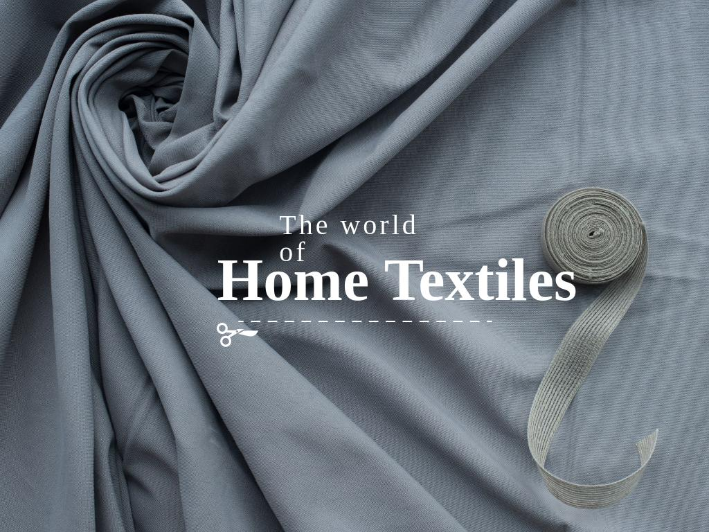 Home textiles Offer Presentation Design Template