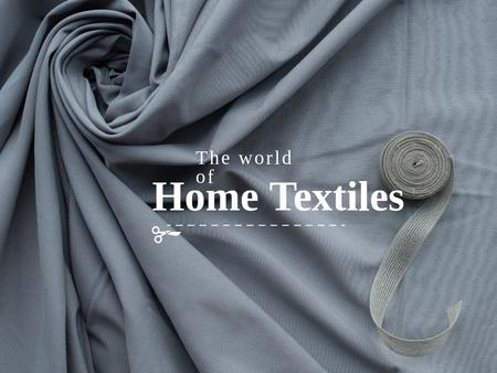 Home textiles Offer Presentationデザインテンプレート