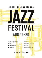 Jazz Festival Saxophone in Yellow