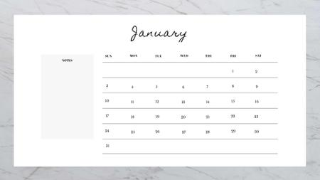 Beautiful Marble Stone Calendar Design Template