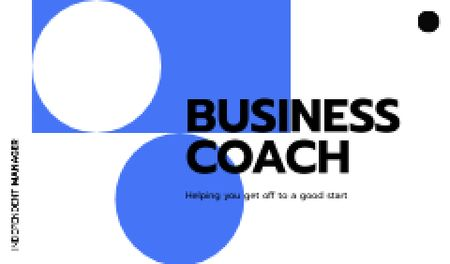 Designvorlage Business Coach services offer für Business card