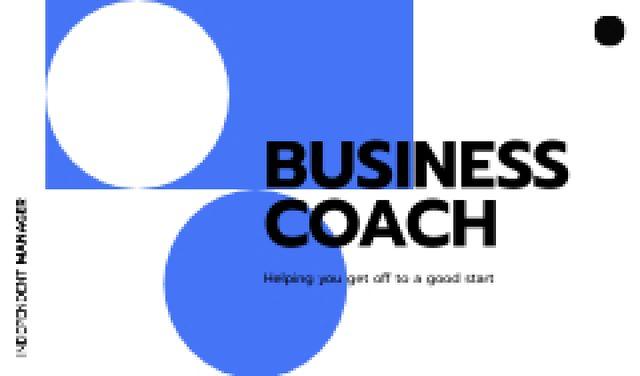 Business Coach services offer Business card – шаблон для дизайну