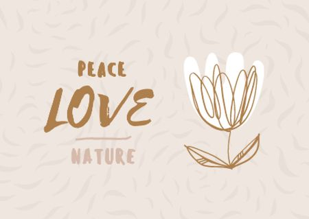 Plantilla de diseño de Eco Concept with Flower illustration Postcard