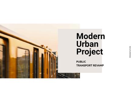 Modern Urban Project Announcement Presentation tervezősablon