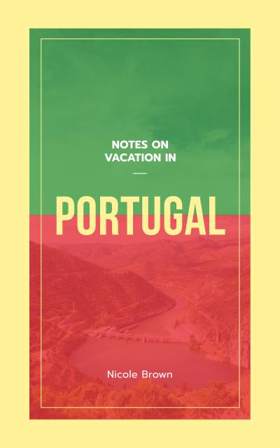 Portugal Tour Scenic Landscape Book Cover – шаблон для дизайна