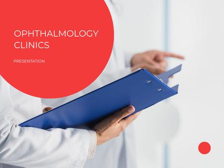 Ophthalmology Clinics Services Offer Presentation Design Template