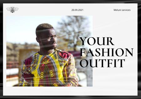 Ontwerpsjabloon van Brochure van Stylish Man in Bright Outfit