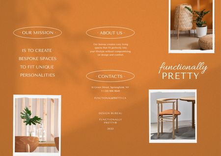 Platilla de diseño Stylish Home Interior Offer Brochure