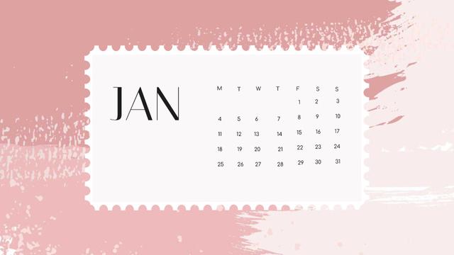 Colorful Paint blots in pink tones Calendar – шаблон для дизайну