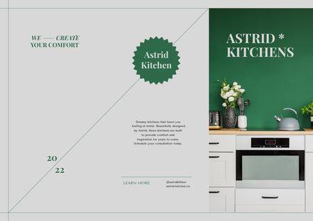 Modern Kitchen Interior Offer Brochureデザインテンプレート