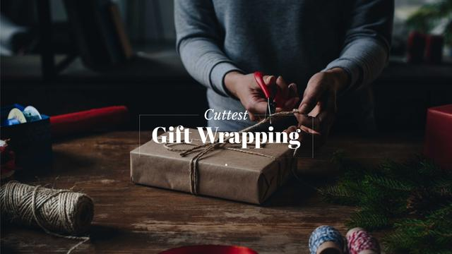 Cuttest gift wrapping Presentation Wideデザインテンプレート