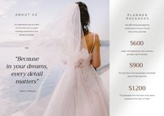 Wedding Dresses Ad with Tender Beautiful Bride