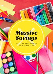 School Supplies Sale Colorful Stationery