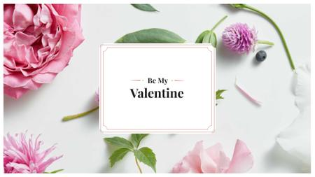 Plantilla de diseño de Valentine's Day Greeting Presentation Wide