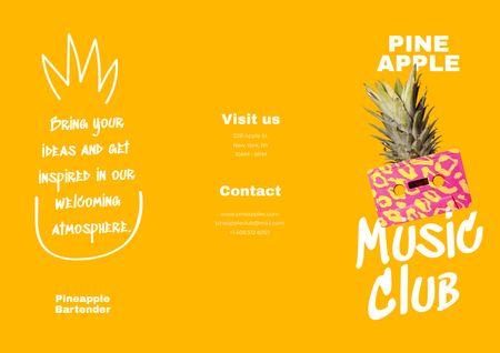 Modèle de visuel Music Club Promotion with Pineapple - Brochure
