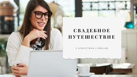 Wedding Planning services with Businesswoman Presentation Wide – шаблон для дизайна