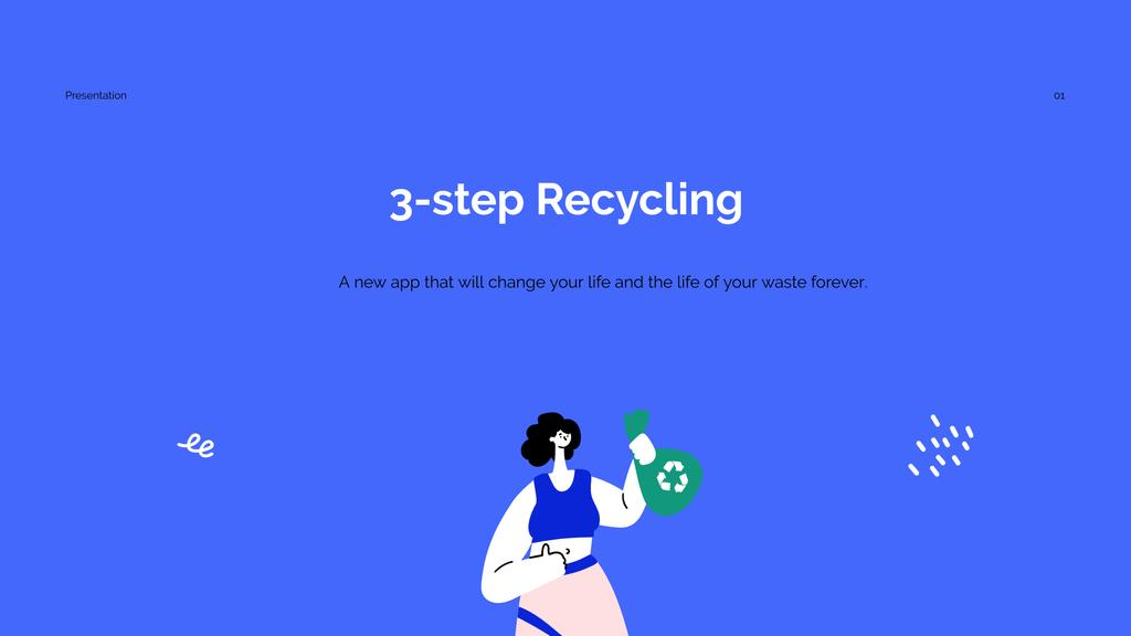 Recycling App promotion Presentation Wide Modelo de Design