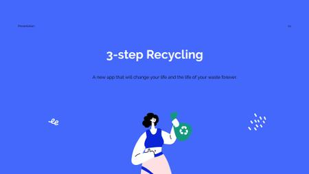Recycling App promotion Presentation Wideデザインテンプレート