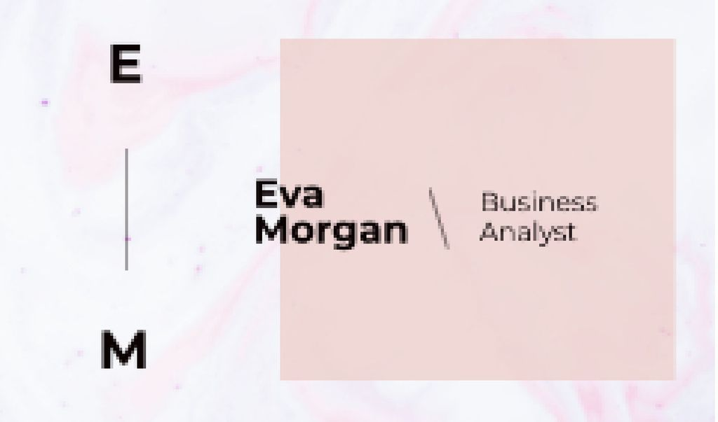 Business Analyst Ad with Watercolor Pattern in Pink —デザインを作成する