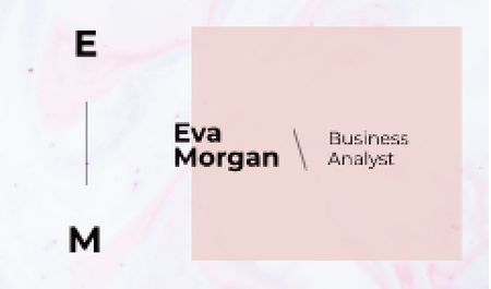 Business Analyst Ad with Watercolor Pattern in Pink Business card – шаблон для дизайну