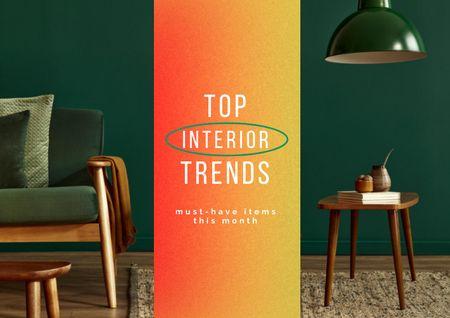 Ontwerpsjabloon van Brochure van Stylish Modern Room Interior