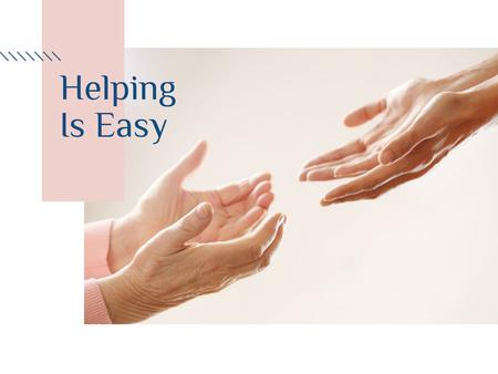 Helping Elder Holding Hands with Senior Woman Presentation Design Template