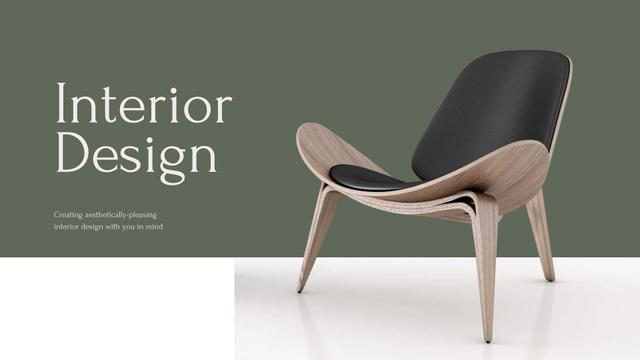 Interior Design agency services Presentation Wideデザインテンプレート
