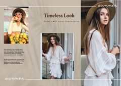Summer Fashion Collection Ad with Stylish Woman