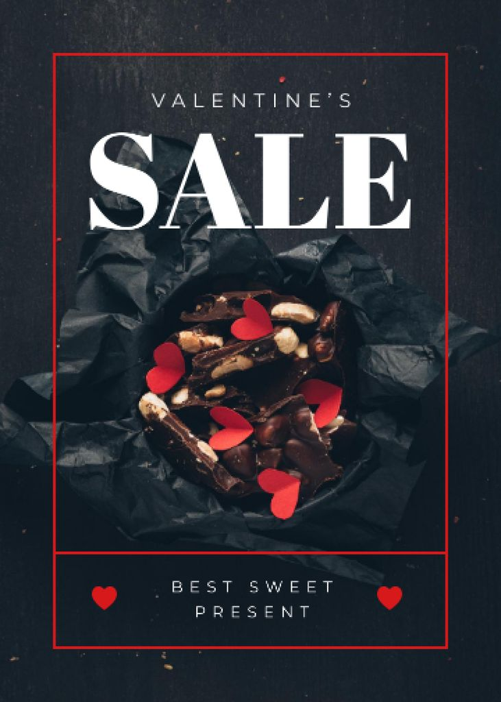 Valentine's Day Present Box with Chocolates — Créer un visuel