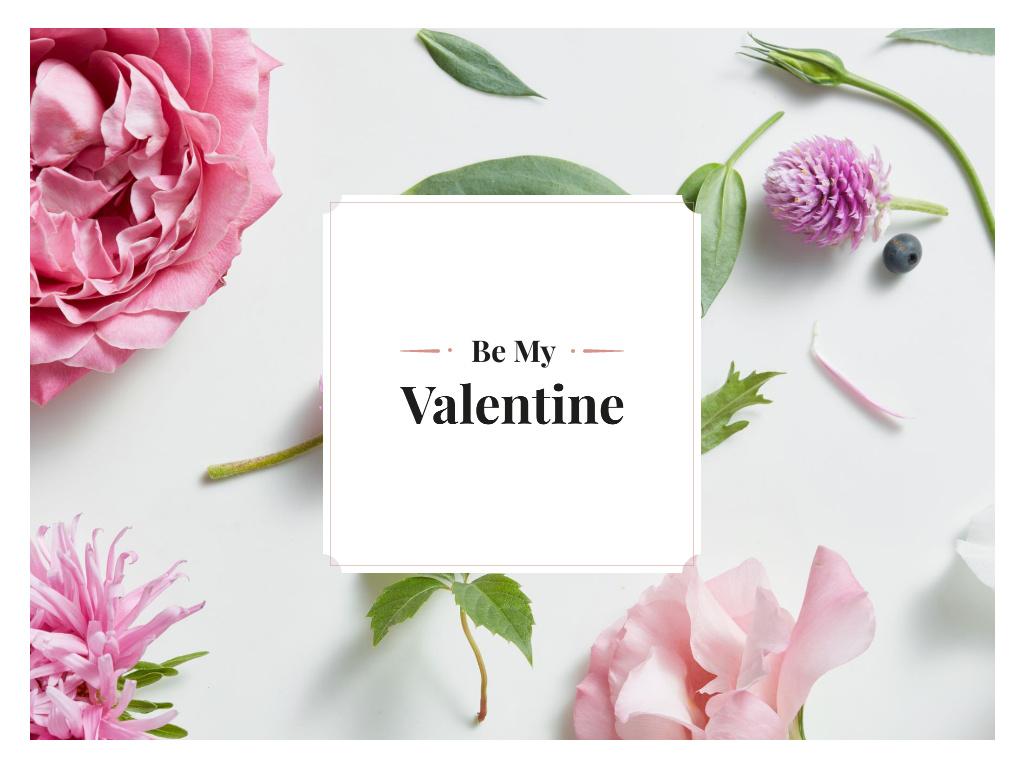 Happy Valentine's Day Greeting Presentation Design Template