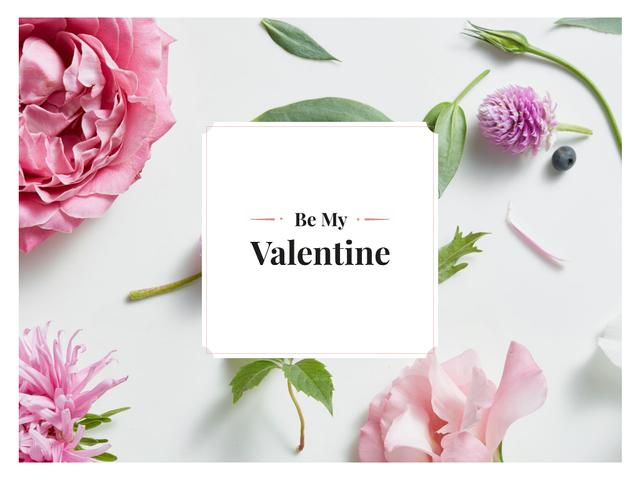 Happy Valentine's Day Greeting Presentation Modelo de Design