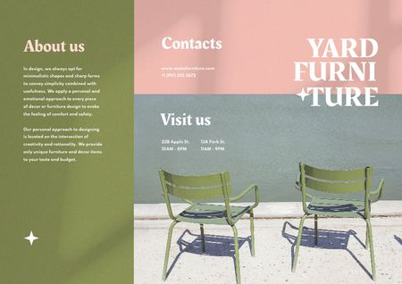 Yard Furniture Offer with Stylish Chairs Brochure Modelo de Design