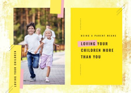 Template di design Parents with kids having fun Postcard