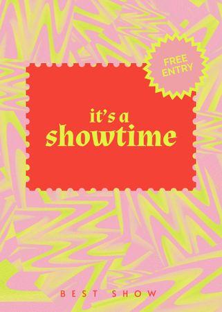 Template di design Showtime announcement in bright colors Flayer