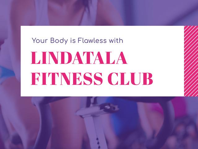 Designvorlage Fitness club Ad für Presentation