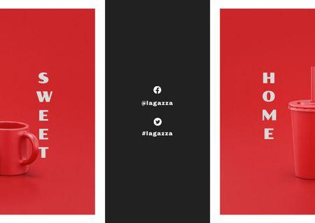Ontwerpsjabloon van Brochure van Home Design Offer with Cups